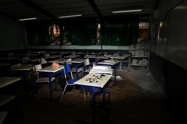 Varal de sentimentos, culto e psicólogos: como escola atacada em Charqueadas prepara acolhida para estudantes Mateus Bruxel/Agencia RBS