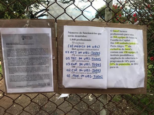 Após anúncio de demissão de funcionários, sete postos de saúde seguem fechados em Porto Alegre Eduardo Matos / Agência RBS/Agência RBS