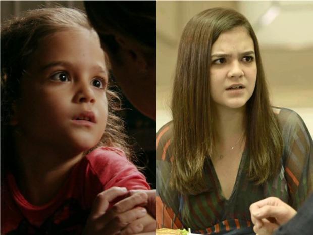 Aos oito e aos 15 anos, Mel Maia domina a telinha com atuações arrasadoras TV Globo / Reprodução/Reprodução