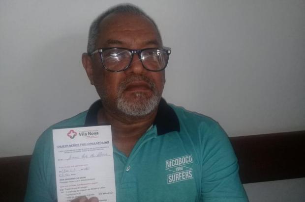 Após espera de quase mil dias, idoso de Porto Alegre consegue consulta e tem cirurgia marcada Arquivo pessoal/Arquivo pessoal