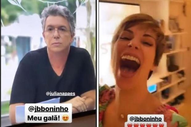 """Ana Furtado vibra com participação de Boninho em """"A Dona do Pedaço"""": """"Meu galã"""" Reprodução/Instagram"""