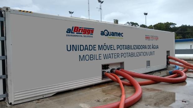 Porto Alegre terá estação de tratamento provisória para amenizar falta de água nas zonas Sul e Leste Prefeitura de Porto Alegre / Divulgação/Divulgação