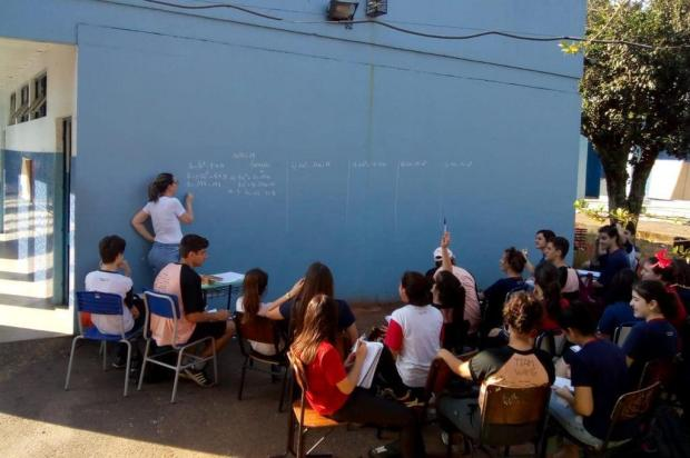 Falta de reformas em escola de Gravataí expõe alunos a calorão Fernanda Pacheco Laesker/Arquivo pessoal
