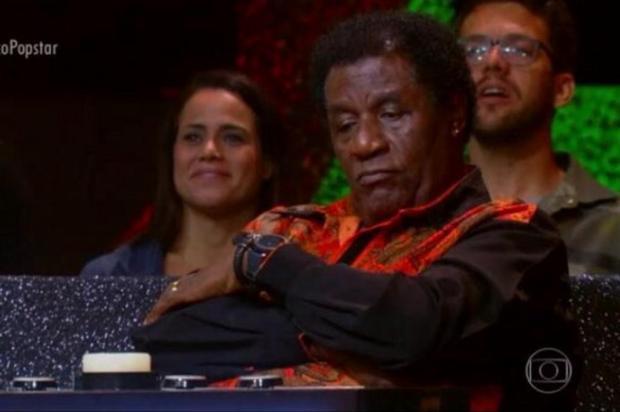 """Carrasco e com aparência jovem: aos 89 anos, Tony Tornado rouba a cena como jurado do """"Popstar"""" Reprodução/TV Globo/Divulgação"""