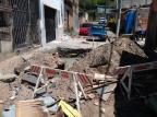 Buraco interrompe fluxo de rua no bairro Mario Quintana, na Capital Arquivo Pessoal/Arquivo Pessoal