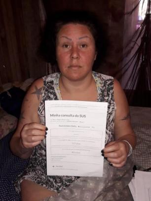 Moradora de Eldorado do Sul sofre com dores e pede tratamento adequado arquivo pessoal/Arquivo Pessoal