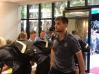 Sem Geromel e com volante da base na delegação, Grêmio desembarca em Chapecó Eduaro Gabardo / Agência RBS/Agência RBS