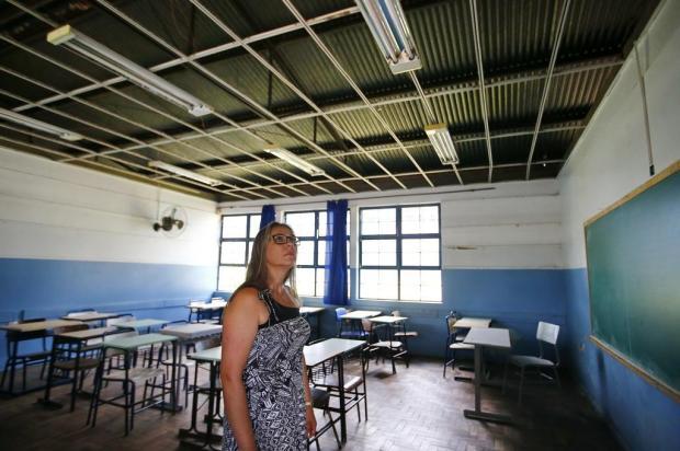 Escola de Gravataí com 12 salas interditadas deve ter 400 alunos a menos neste ano Félix Zucco/Agencia RBS