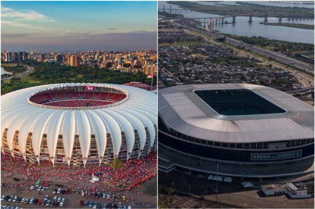 Lelê Bortolacci: se pode jogar, que seja no Beira-Rio e na Arena Montagem sobre fotos de Jefferson Botega / Agência RBS/Agência RBS