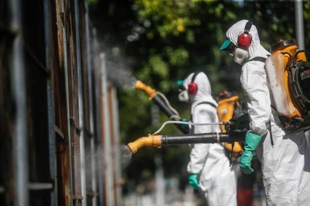 Em parceria com empresas privadas, prefeitura da Capital faz ações de higienização contra o coronavírus André Ávila/Agencia RBS