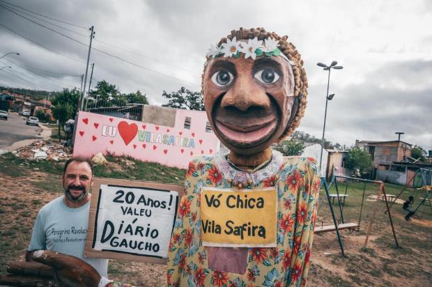 Vila Safira ganhou uma praça após apelo de morador ao DG Omar Freitas/Agencia RBS