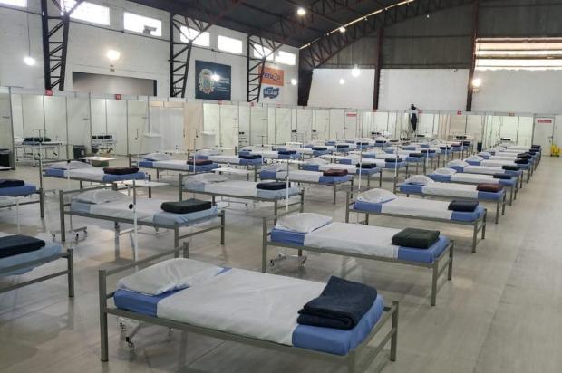 Hospital de campanha com 63 leitos funciona em ginásio de Cachoeirinha Divulgação/Prefeitura de Cachoeirinha