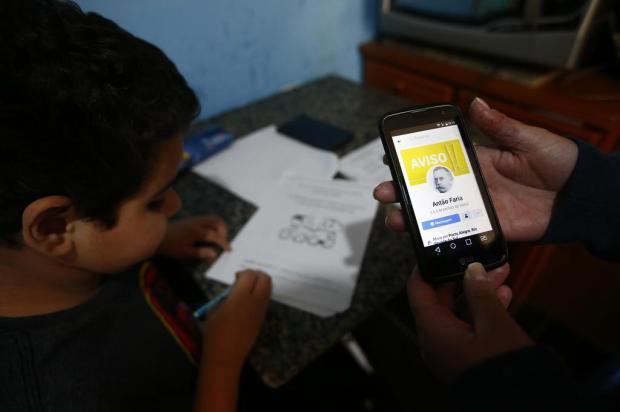 Aulas a distância aumentam fosso entre escolas públicas e particulares Félix Zucco/Agencia RBS