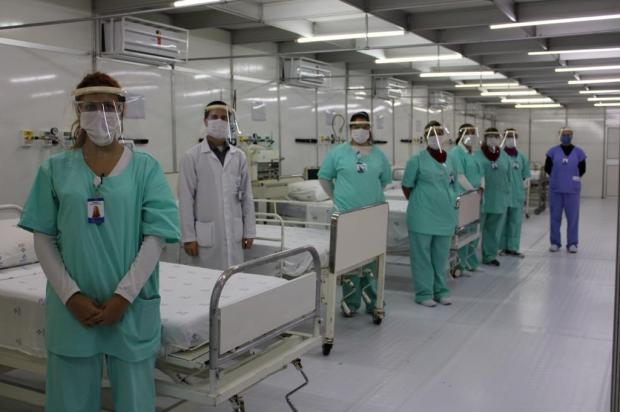 Gravataí inaugura hospital de campanha para tratamento de pacientes com coronavírus Natacha Oliveira,Santa Casa de Misericórdia de Porto Alegre/Divulgação