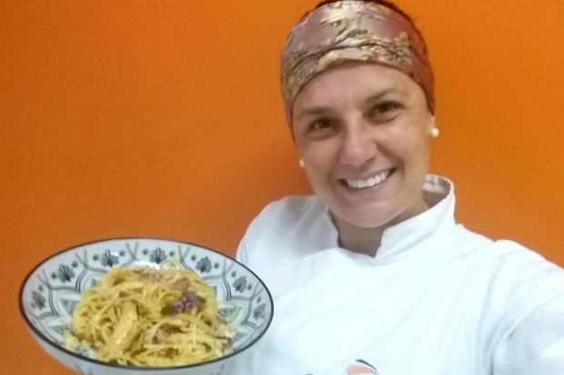 Espaguete à carbonara da chef Cátia Cátia Leal/Senac