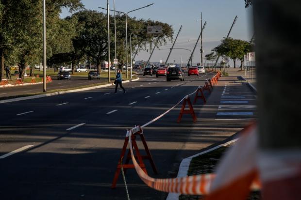 Porto-alegrenses respeitam bloqueio e orla do Guaíba fica vazia Marco Favero / Agência RBS/Agência RBS