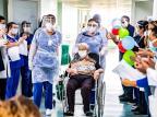 Idosa de 90 anos vence coronavírus após um mês internada, em Canoas Pablo Reis/Prefeitura de Canoas