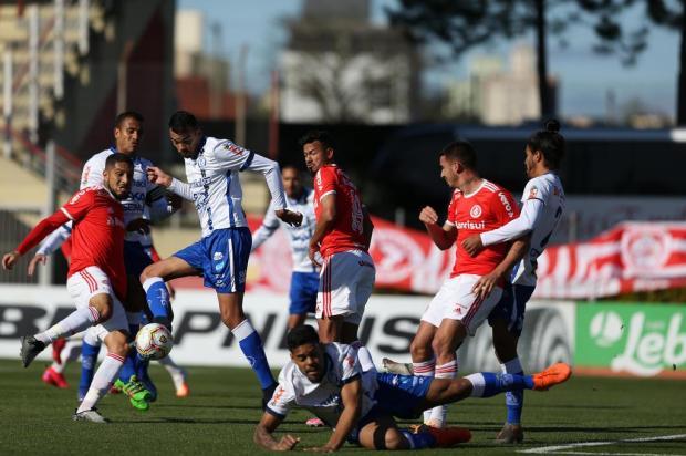Guerrinha: Thiago Galhardo mostrou que merece a titularidade no ataque do Inter Jefferson Botega/Agencia RBS