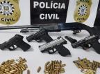 Polícia Civil prende quatro suspeitos de homicídios em Viamão e apreende cinco armas Polícia Civil/Divulgação