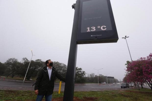 Após cinco anos, primeiro relógio de rua entra em operação em Porto Alegre Lauro Alves/Agencia RBS