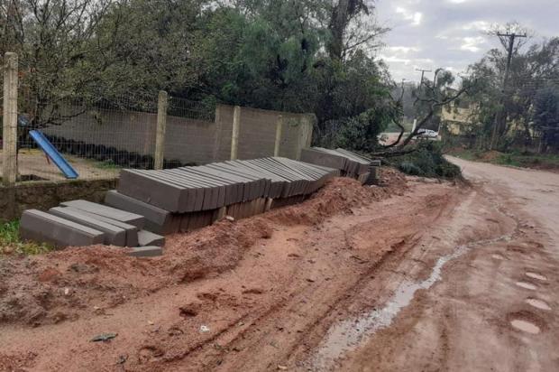Obra de pavimentação da Estrada da Branquinha, em Viamão, é paralisada outra vez Arquivo pessoal/Arquivo pessoal