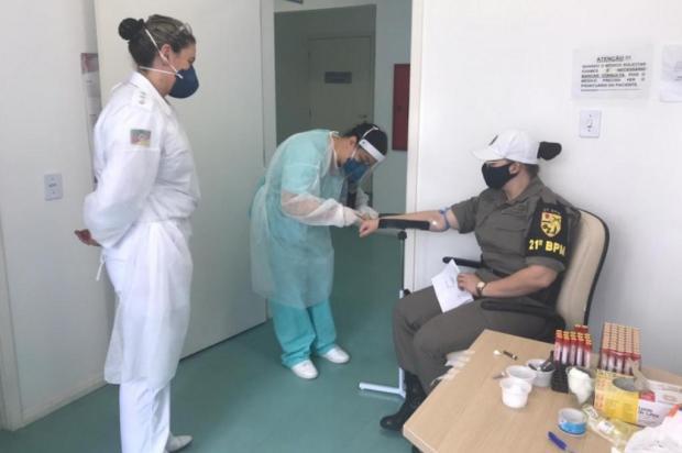 Pesquisa aponta que 3,3% dos policiais militares gaúchos já se contaminaram com o coronavírus Brigada Militar/Divulgação