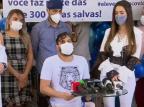 Cauan tem alta do hospital e continuará tratamento em casa Reprodução/Facebook