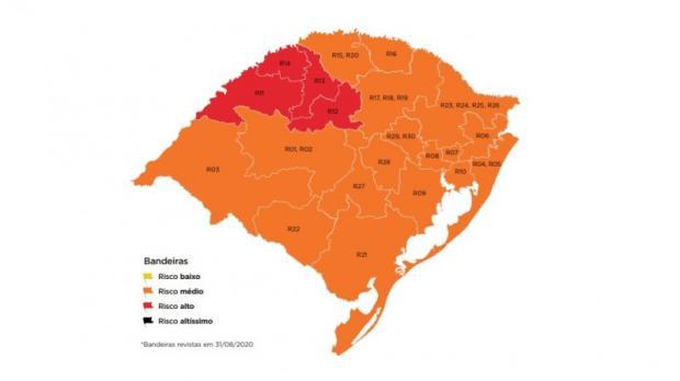 Após mais de dois meses, Porto Alegre volta para a bandeira laranja Governo do RS / Site Oficial/Reprodução/Site Oficial/Reprodução