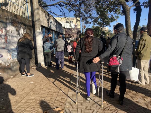 Pela segunda semana consecutiva, beneficiários agendam perícia e encontram agência do INSS fechada em Porto Alegre Tiago Boff / Agencia RBS/Agencia RBS