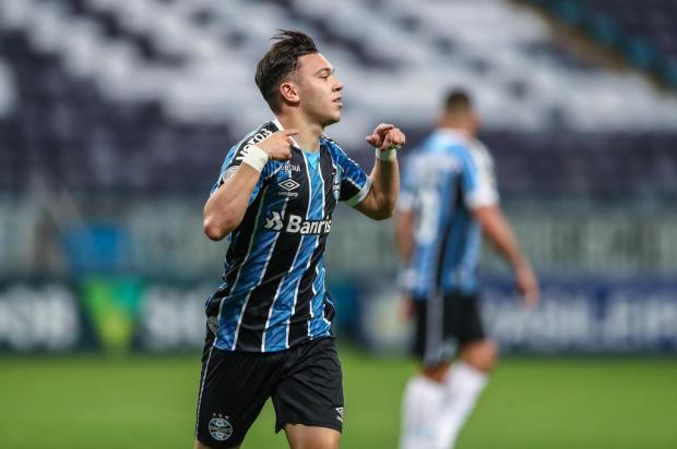 Cacalo: a grande fase de Pepê Lucas Uebel/Grêmio/Divulgação