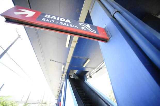 Menos da metade das escadas rolantes nas estações da Trensurb funciona Ronaldo Bernardi/Agencia RBS