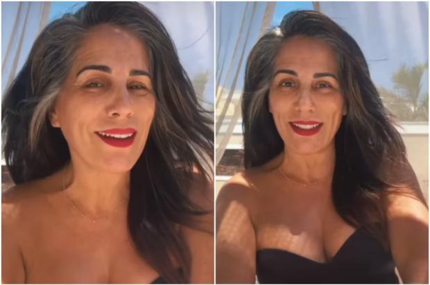 Gloria Pires posa de maiô para divulgar coleção de sua marca e encanta fãs Instagram @gpiresoficial / Divulgação/Divulgação