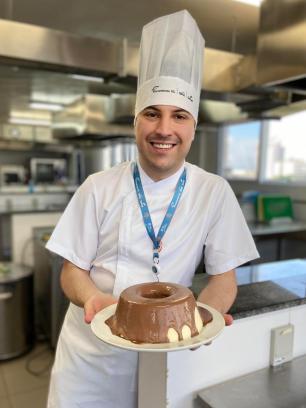 Especial para diabéticos: saiba como preparar a torta de sorvete diet do chef Gabriel Laura Köller David/Senac-RS