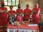 Balneário Pinhal: bombeiros voluntários fazem festa surpresa para menina de oito anos Arquivo Pessoal/Arquivo Pessoal