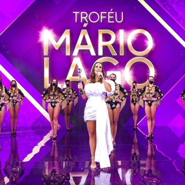 """Ivete Sangalo ganha """"Troféu Mário Lago"""" no Domingão do Faustão Ivete Sangalo Instagram / Reprodução/Reprodução"""