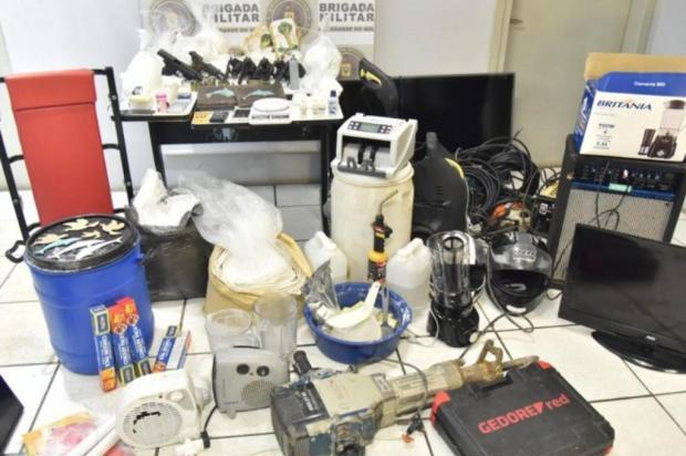 Brigada Militar encontra laboratório de refino de cocaína e depósito de armas no Litoral Norte Sd  Rodrigo Ziebell/PM5/Brigada Militar