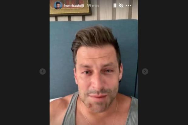 """Henri Castelli revela que foi agredido e mostra ferimentos: """"Muito triste o que aconteceu"""" Instagram Henri Castelli/Reprodução"""