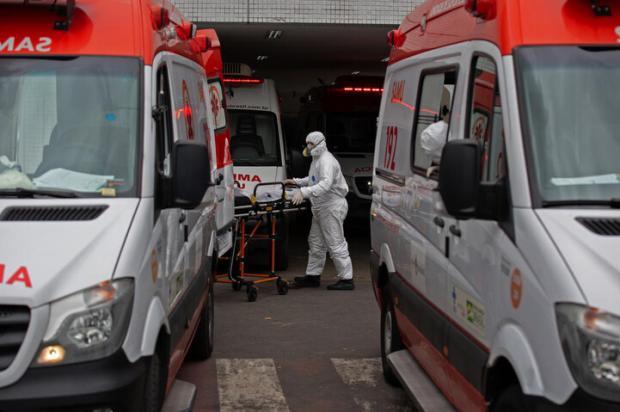 Governo do RS coloca leitos à disposição para receber pacientes de hospitais de Manaus em colapso Michael DANTAS / AFP/AFP