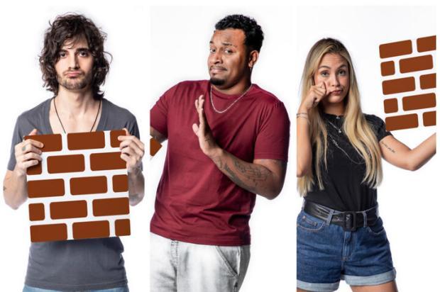 """""""BBB 21"""": Fiuk, Nego Di e Sarah estão no paredão Fábio Rocha / Globo/Globo"""