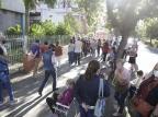 Procura pela segunda dose da vacina contra a covid-19 causa aglomeração no bairro Santana, em Porto Alegre Mateus Bruxel / Agencia RBS/Agencia RBS