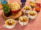 Creme de milho com bacon e pipoca picante: aprenda a preparar a receita junina da Graciela Fritz & Frida / Divulgação/Divulgação