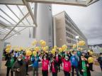 Revoada de balões e plantio de árvores marcam celebração dos 50 anos do Hospital de Clínicas de Porto Alegre Jefferson Botega / Agencia RBS/Agencia RBS