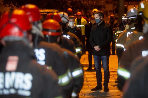 Corpo do segundo bombeiro que estava desaparecido no prédio da SSP é encontrado Felipe Dalla Valle / Palácio Piratini / Divulgação/Palácio Piratini / Divulgação