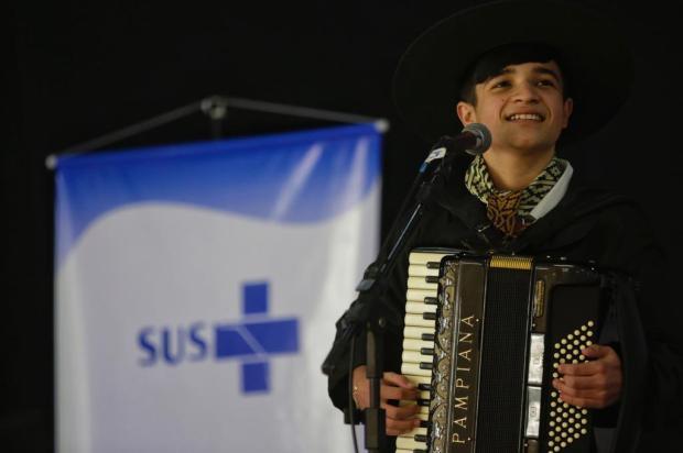 Música gaúcha anima ponto de vacinação em Porto Alegre nesta sexta-feira Mateus Bruxel / Agencia RBS/Agencia RBS