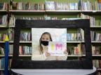 Aos 10 anos, aluna cria telejornal com materiais reciclados e diz se inspirar em apresentadoras da RBS TV: ¿mulheres empoderadas¿ Mateus Bruxel / Agencia RBS/Agencia RBS