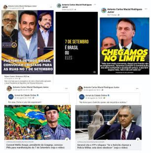 Leite determina que conduta de coronel da BM que convocou policiais para manifestações seja apurada Facebook / Reprodução/Reprodução