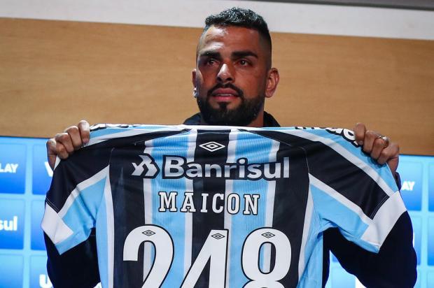 Cacalo: a emoção de Maicon durante a despedida do Grêmio Lucas Uebel / Grêmio/Divulgação/Grêmio/Divulgação