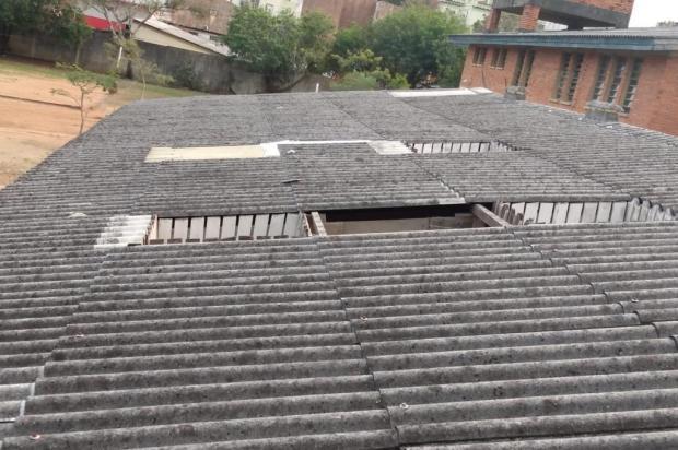 Há dois anos sem telhas, escola da Capital precisa cancelar aulas em dias de chuva Arquivo Pessoal / Arquivo Pessoal/Arquivo Pessoal