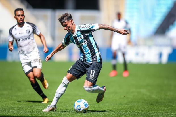 Luciano Périco: acendeu uma luz no fim do túnel para o Grêmio LUCAS UEBEL / Grêmio / Divulgação/Grêmio / Divulgação