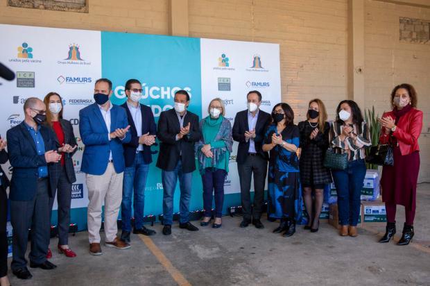 Movimento Gaúchos Unidos pela Vacina arrecada mais de R$ 1 milhão em doações para 270 municípios gaúchos Jefferson Botega / Agencia RBS/Agencia RBS